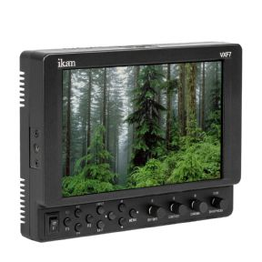 Ikan VXF7 Support Full HD HDMI/3G-SDI On-Camera Monitor 1920x1200 LCD Panel con adaptador de baterias